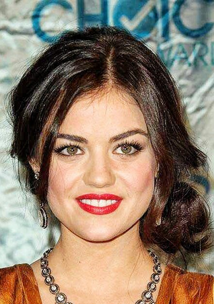 Side Bun With Bangs-Round Face Long Hairstyles Female-female hairstyles #womenhair #womenhairstyles
