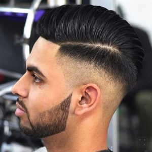 High Skin Fade With Comb Over