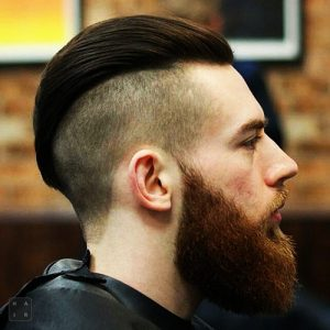 Slicked Back Undercut With Long Beard