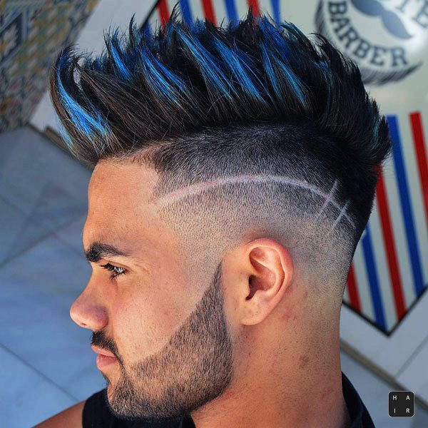 Taper Fade Mohawk-mens haircut trends 2020-2020 hair trends men-2020 men's hair trends-men's hair trends 2020