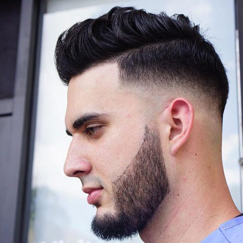 Mid Bald Fade With Quiff
