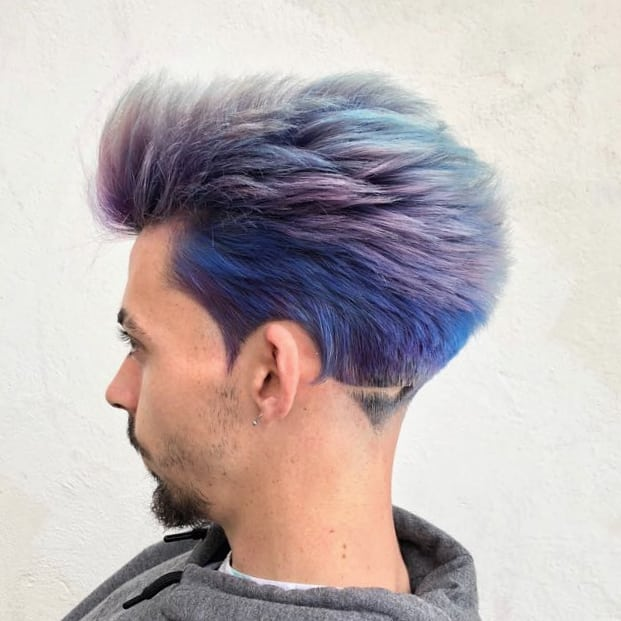Hair colors for summers-hair colors ideas for men-shades of blue-blue hair colors ideas for men