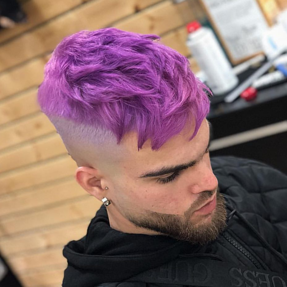 Hair colors for summers-hair colors ideas for men-violet color ideas for men
