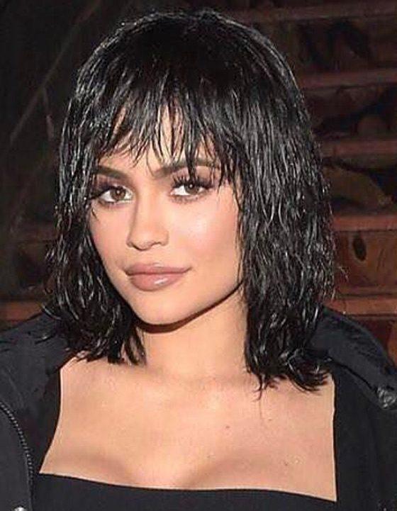 Kylie Jenner Hairstyles- Wet Hair Look -hairstyles for men