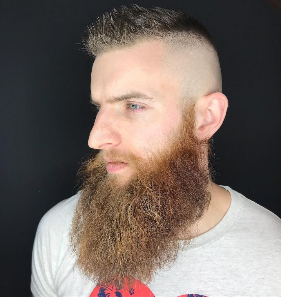 Cool Beard Styles-full beard styles-high beard styles-Short Hair with Full Beard Styles