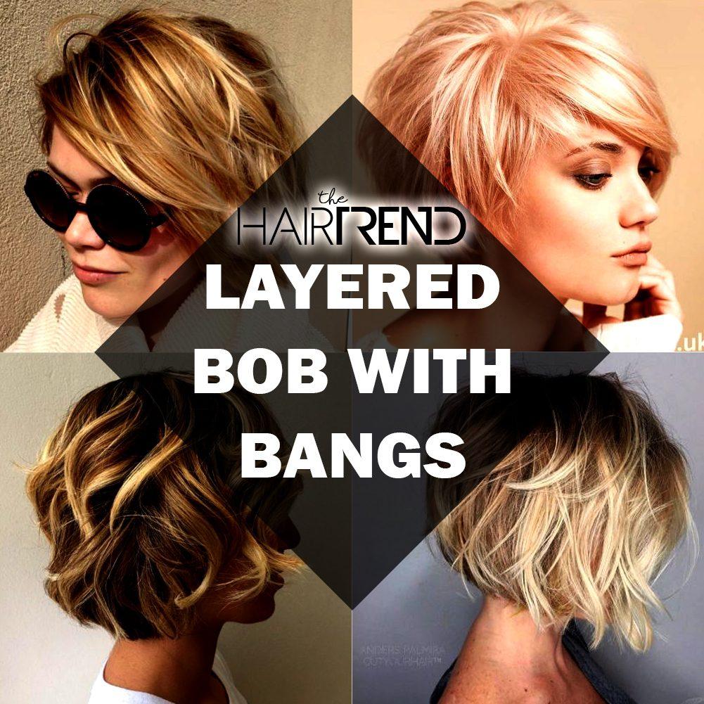 Layered Bob With Bangs