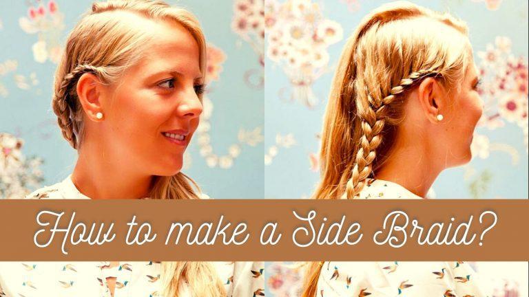 HOW TO MAKE A SIDE BRAID? STEP BY STEP