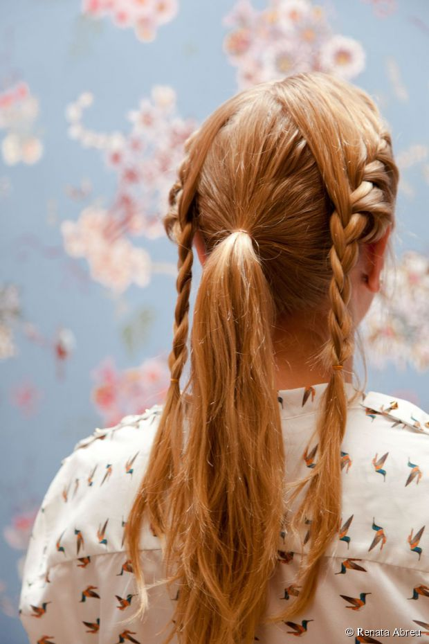 braids going into a bun