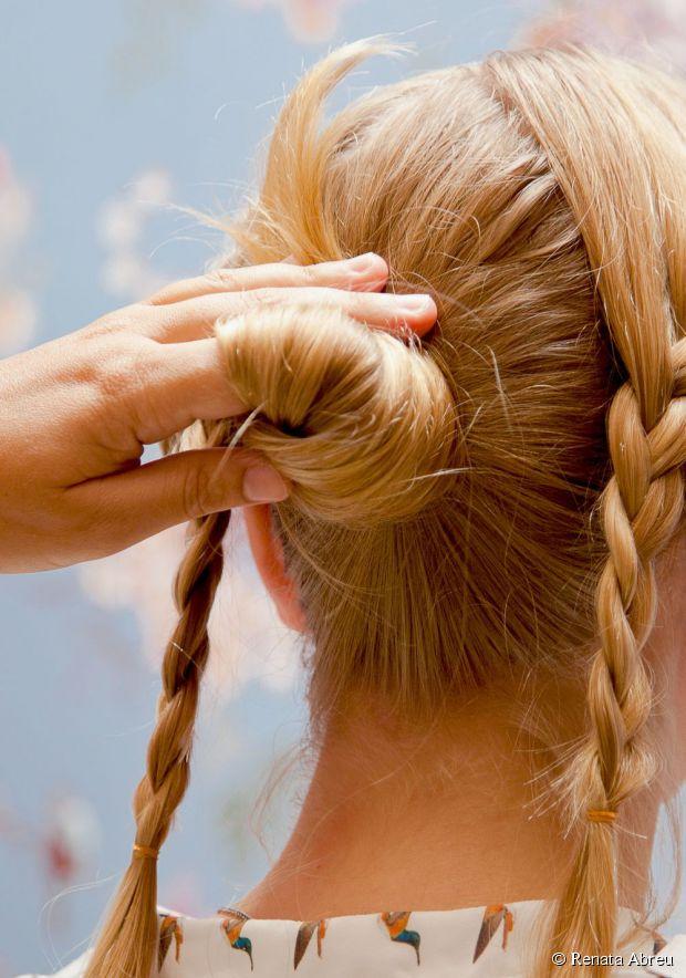 braids into bun