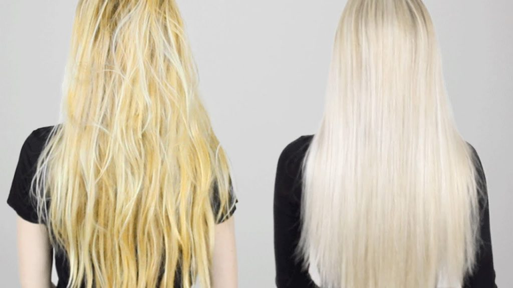 How to fix bleached hair that turned yellow?